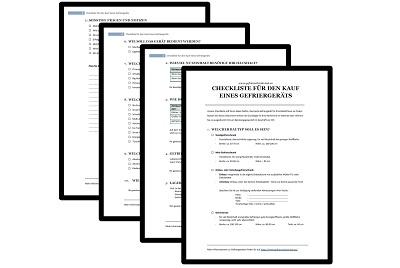 Download - PDF Checkliste für den Kauf eines Gefriergeräts
