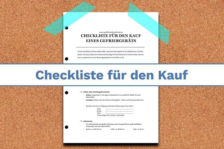 Checkliste für den Kauf eines neuen Gefriergeräts