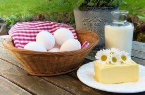 Milch, Eier, Käse einfrieren